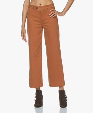 by-bar Duke Cropped Wide Leg Pants - Terracotta