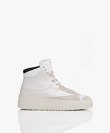 Copenhagen Studios High-top Leather Sneakers - Eggshell