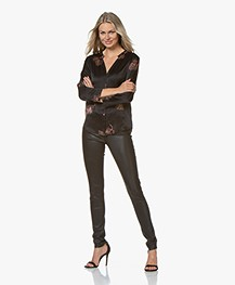 Repeat Luxury Leather Slim-fit Trousers - Black