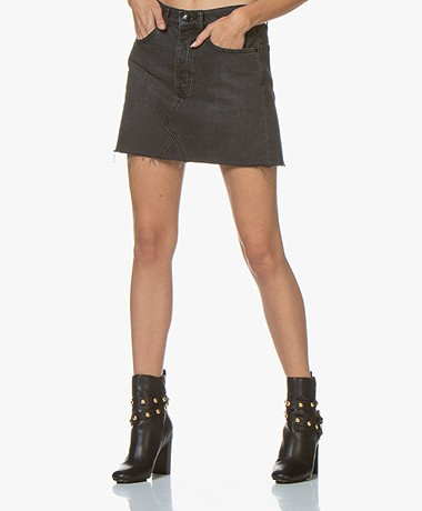 Denham Pearl Denim Skirt - Washed Black