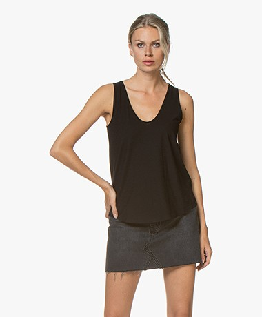 Drykorn Saimi Cotton Jersey Tank Top - Black