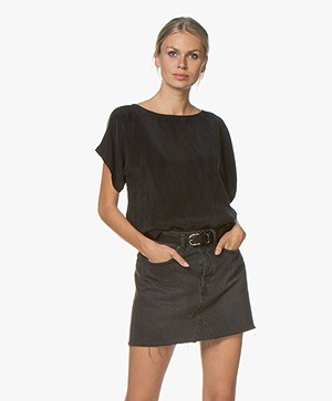 Drykorn Somia Cupro Blouse - Black