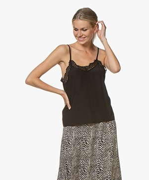 Josephine & Co Gidion Top with Lace - Black