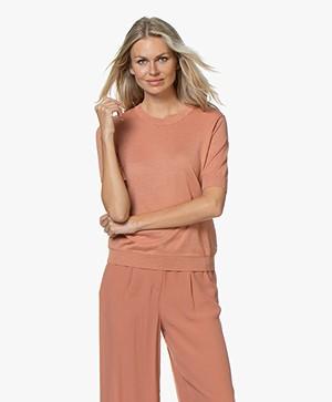 Marie Sixtine Axelle Short Sleeve Pullover - Rotin