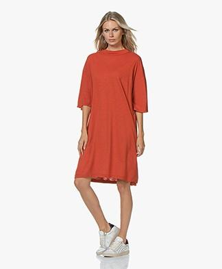 American Vintage Jamostate T-shirt Dress - Vintage Rust