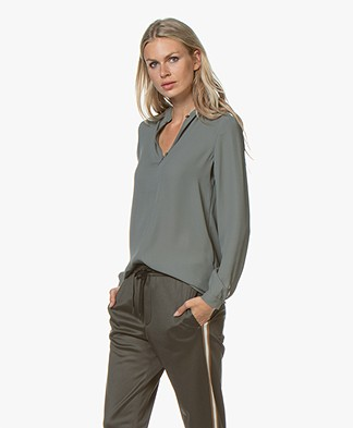 Filippa K Ada Tunic Blouse - Mineral Grey