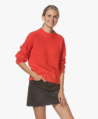 Josephine & Co Guust Cotton Blend Sweater - Tomato Red