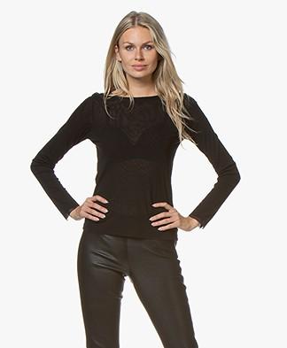 LaSalle Mesh Long Sleeve T-shirt - Black
