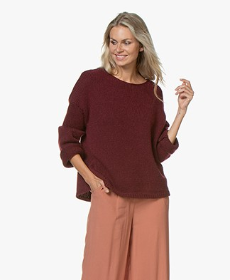 Sibin/Linnebjerg Nova Alpaca Blend Oversized Sweater - Bordeaux