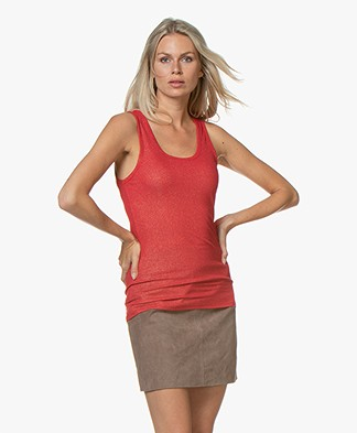 Majestic Filatures Lurex Tank Top - Red/Gold