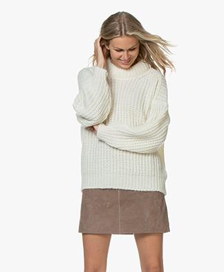 ba&sh Emma Chunky Knit Sweater - Off-white