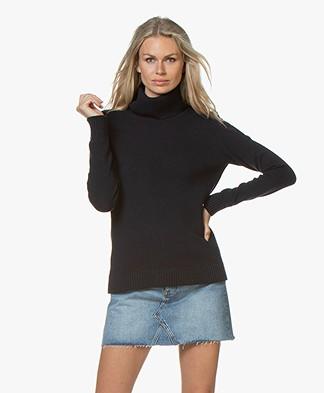 Belluna Robin Fine Knit Sweater with Cashmere - Navy