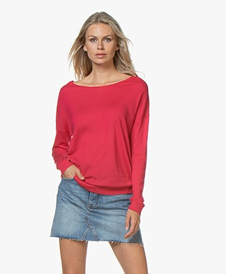 Marie Sixtine Bleuet Viscose Blend Sweater - Dahlia