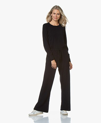Repeat Knitted Jumpsuit with Cashmere - Navy