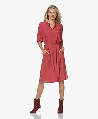 Repeat Viscose Crepe Midi Dress - Spice