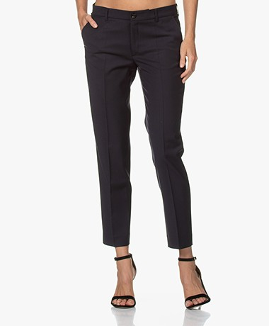 Filippa K Luisa Cropped Cool Wool Pantalon - Donker Navy