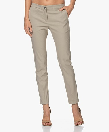 Woman by Earn Sue Stretch Viscose Pants - Sand