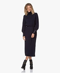 Josephine & Co Janie Merino-Cashmere Knitted Dress - Navy