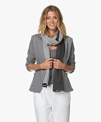 Majestic Filatures Two-tone Cashmere Blend Scarf - Anthracite/Light Grey Melange