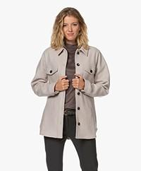 Josephine & Co Jen Woollen Overshirt Jacket - Sand