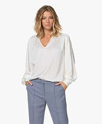 By Malene Birger Armel Zijde-satijnen Blouse - Soft White