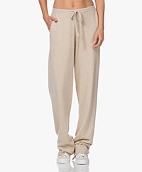 extreme cashmere N°142 Run Cashmere Blend Pants - Latte