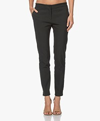Woman by Earn Sue Stretch Viscose Pantalon - Donkergroen