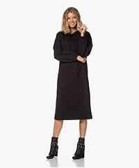Drykorn Slima Midi Hooded Sweater Dress - Black