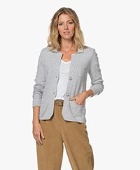 Belluna Noor Short Wool Blend Cardigan - Light Ash