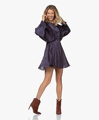 American Vintage Gitaka Satin Jacquard Dress - Fanny