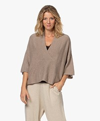 Filippa K Soft Sport Warm-up Cashmere Sweater - Fudge Mela