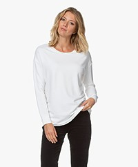 Majestic Filatures French Terry Longsleeve - Wit