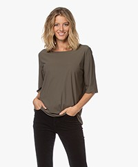 Woman by Earn Danny Tech Jersey T-shirt - Army