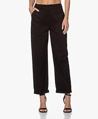 Denham Hawthorn Cargo Twill Pants - Black