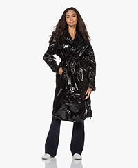 Maium Rainwear Waterdichte PU Trenchcoat - Black Lac