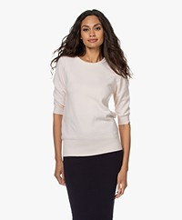 extreme cashmere N°63 Well Cashmere Trui - Talc