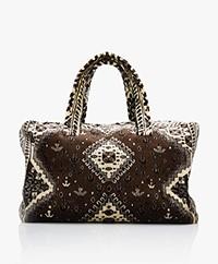 Lalla Marrakech Socco Carpet  Shopper Bag - Brown/Cream