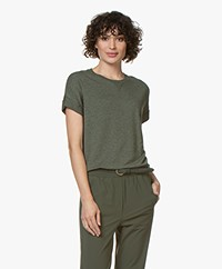 Rag & Bone Townes French Terry T-shirt - Off - Hthr Army