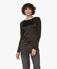 Belluna Lobelia Long Sleeve with Silk Front - Black