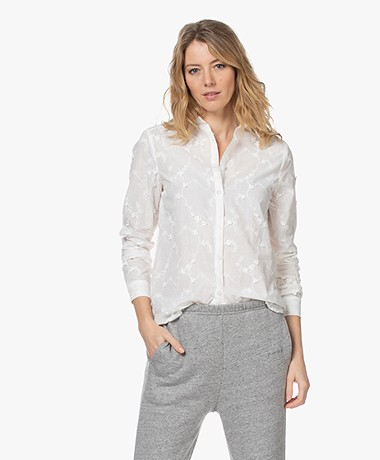 Josephine & Co Lois Embroidered Voile Blouse - White
