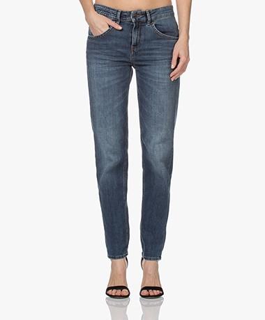 Drykorn Like Girlfriend Stretch Jeans - Donkerblauw