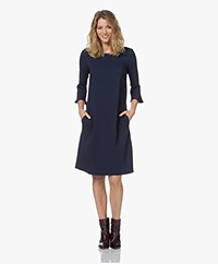 Kyra & Ko Leotien Stretch-Viscose Crepe Dress - Blue Iris