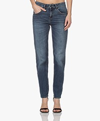 Drykorn Like Girlfriend Stretch Jeans - Donkerblauw