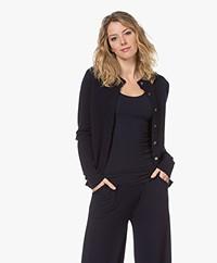 extreme cashmere N°99 Little Short Cashmere Cardigan - Navy