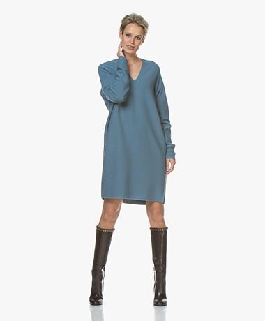 Drykorn Filipa Cashmere Blend Knitted Dress - Blue