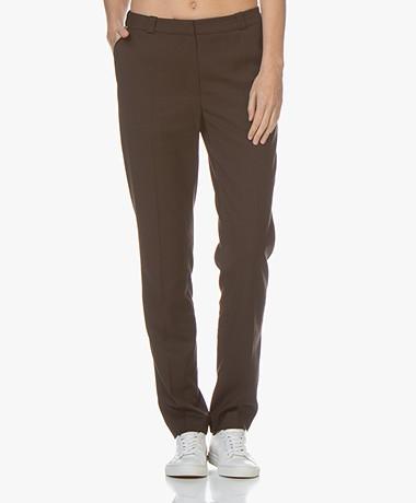 studio .ruig Bardot Straight Leg Pants - Chocolate