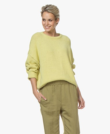 Drykorn Nolima Cotton Blend Sweater - Lime Green