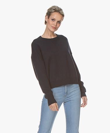 Filippa K Soft Sport Double Knit Sweater - Night Sky