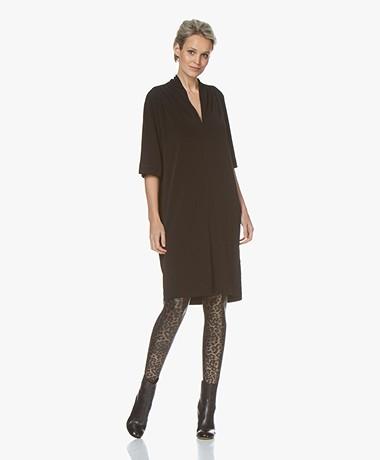 By Malene Birger Bijou Crepe Jersey Dress - Black