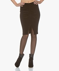 IRO Astro Velvet Jersey Pencil Skirt - Black